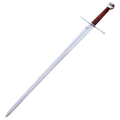 Two Handed Templar Sword With Scabbard and Belt