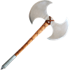 Double-Bladed Barbarian Battle Axe