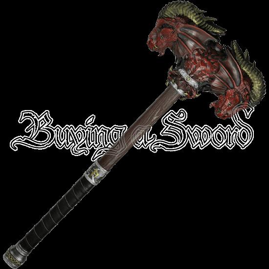 Red Calfera LARP Hammer