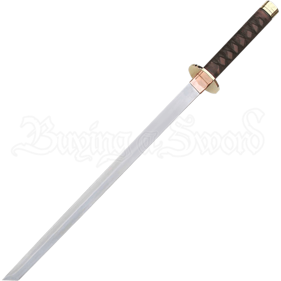 Braided Leather Ninja Short Sword