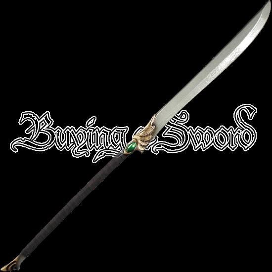 High Elven Green LARP Naginata