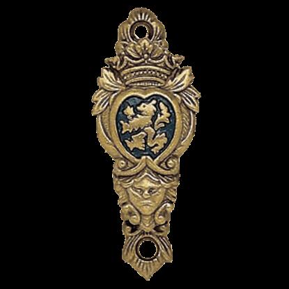 Brass Heraldic Crest Sword Hanger