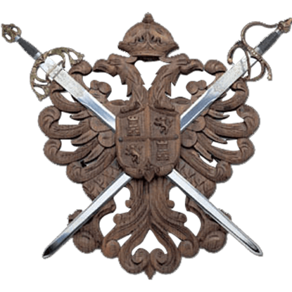 Two Sword Eagle Crest Plaque
