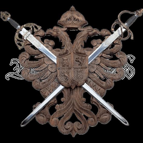 Two Sword Eagle Crest Plaque