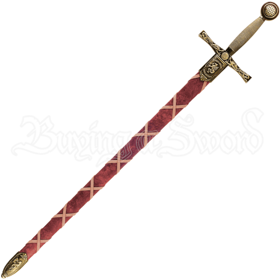 Brass Excalibur Sword with Scabbard