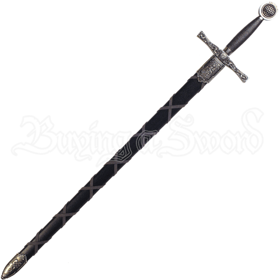 Nickel Excalibur Sword with Scabbard