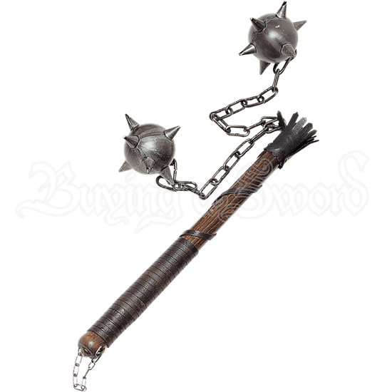 Large Two Ball Medieval Flail