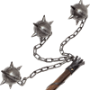 Large Three Ball Medieval Flail