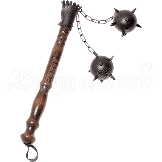 Small Two Ball Medieval Flail
