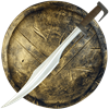 Spartan LARP Sword and Shield
