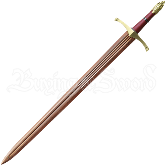 Oathkeeper Red Damascus Sword