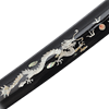 Damascus Katana with Marble Dragon Scabbard
