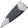 Green Gem Cross-Hatch Sgian Dubh