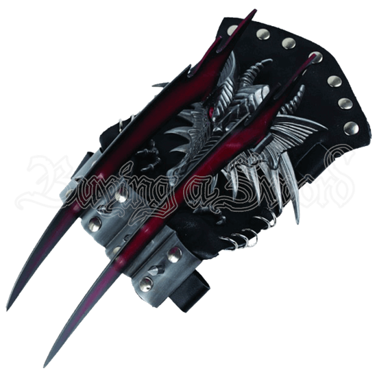 Dragon Red Bladed Glove