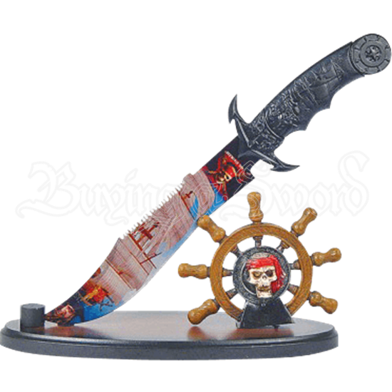 Pirate Dagger and Wheel Display