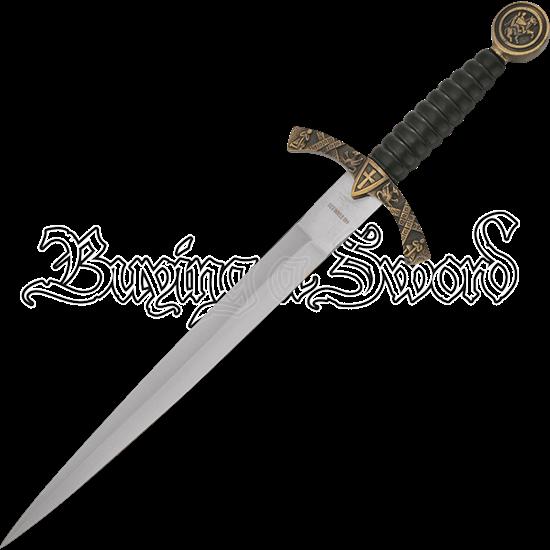 Antique Gold Decorative Crusader Dagger