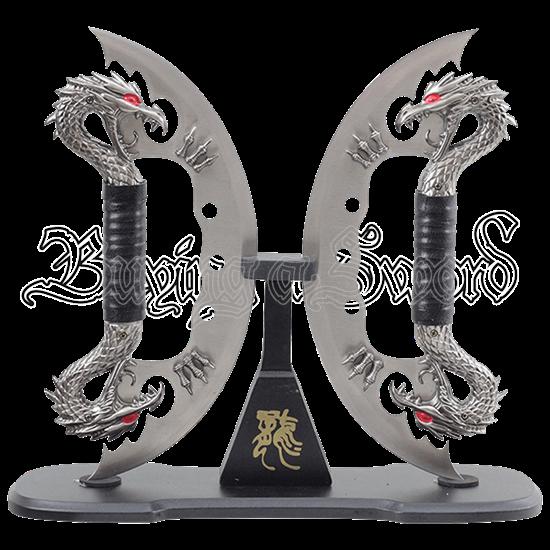Dual Chrome Dragon Blades