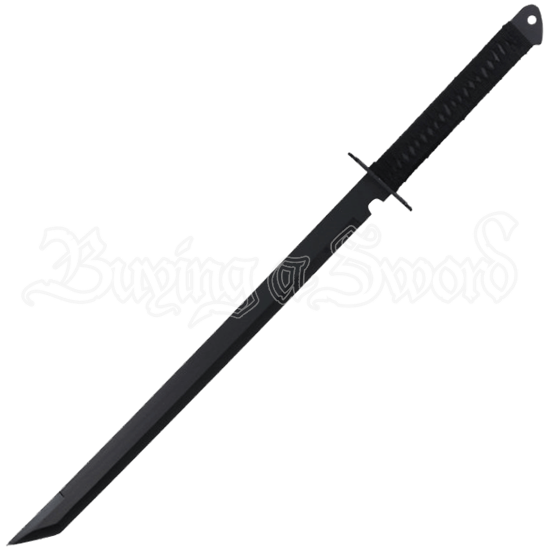 Black Ninja Sword with Cross Guard