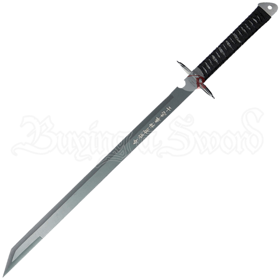 Full Tang Ninja Sword with Oval Guard