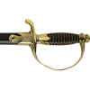 Gold and Black Handle Cavalry Sword