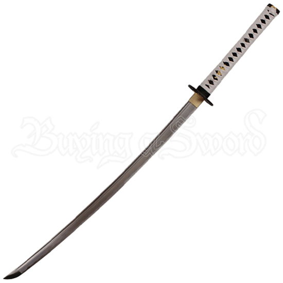 White Katana with Hidden Dagger