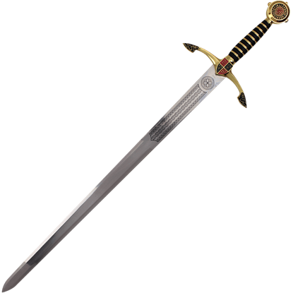 Black Prince Sword with Plaque