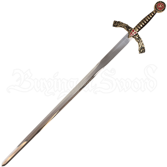 Cross Shield Excalibur Sword with Plaque