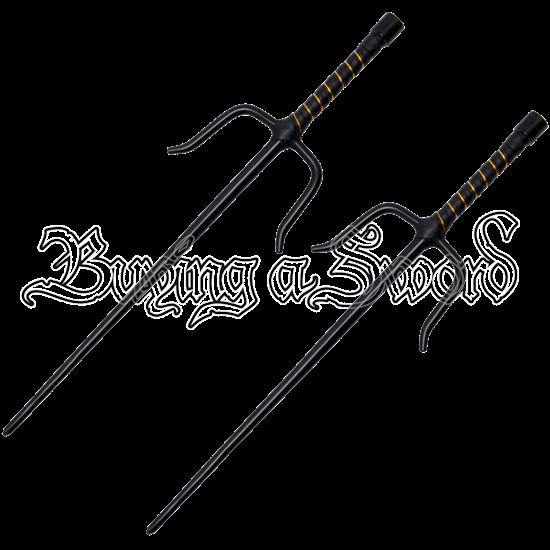 Ninja Octagon Black Sai Set
