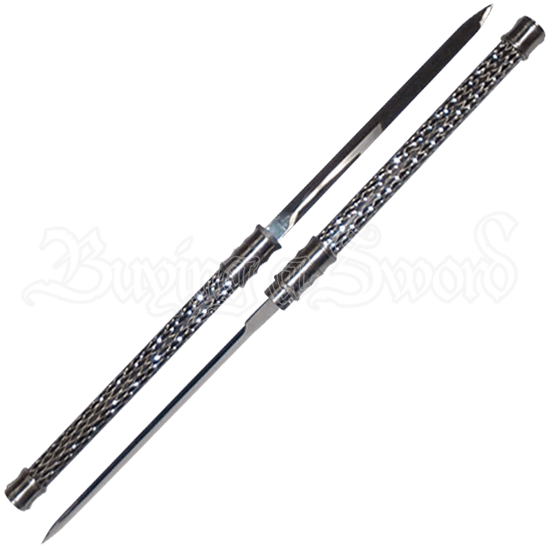 Black and Silver Locking Short Swords