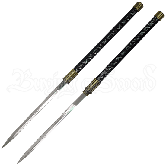 Interlocking Gold Double Short Sword