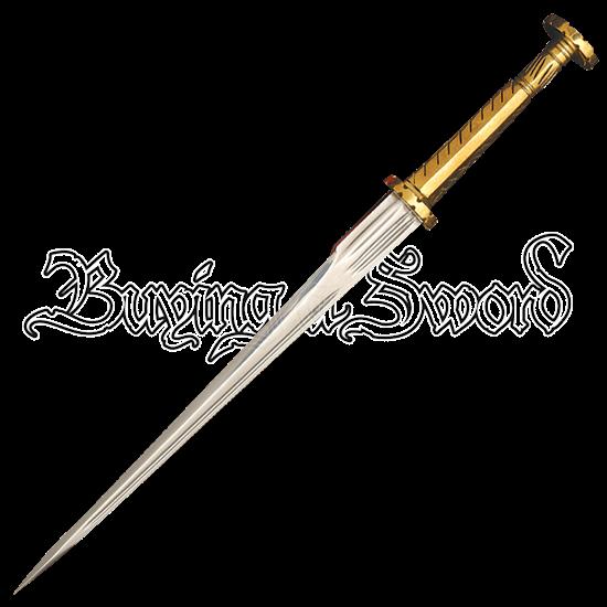 Brass Hilted Rondel Dagger