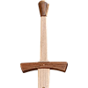 Two Handed Medieval Wooden Sword