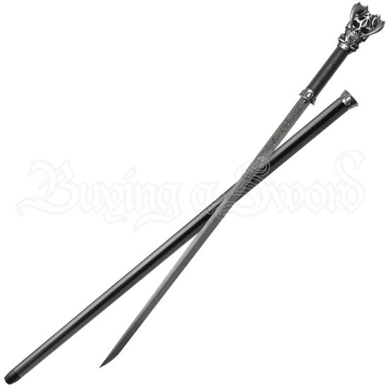 Vorthelok Forged Damascus Sword Cane