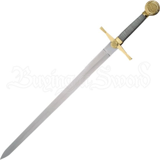 Medieval Knightly Sword with Plaque