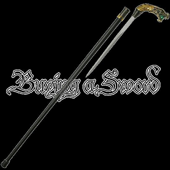 Golden Dragon Sword Cane