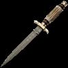 Antler Damascus Dagger