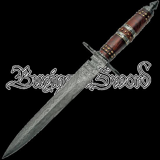 Rosewood Damascus Dagger