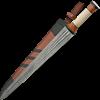 Damascus Sword With Bone Handle