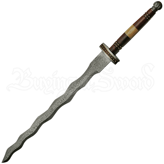 Flamberge Damascus Sword