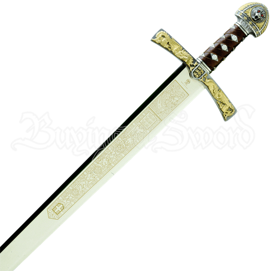 Gold and Silver King Richard the Lionheart Sword by Marto