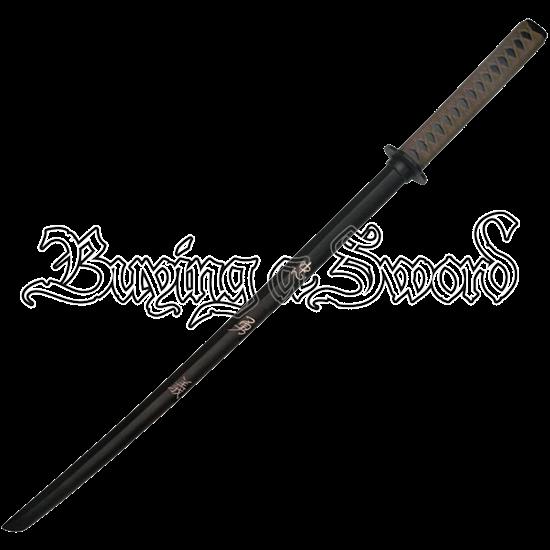 Black Engraved Virtues Bokken