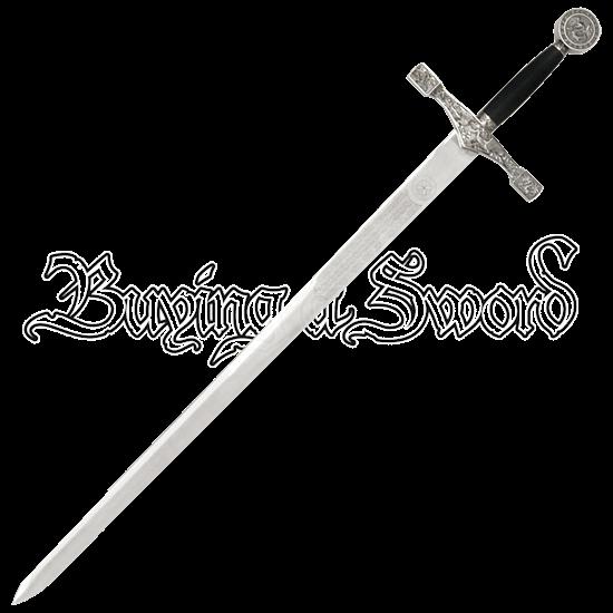 Silver-Hilt Excalibur Sword