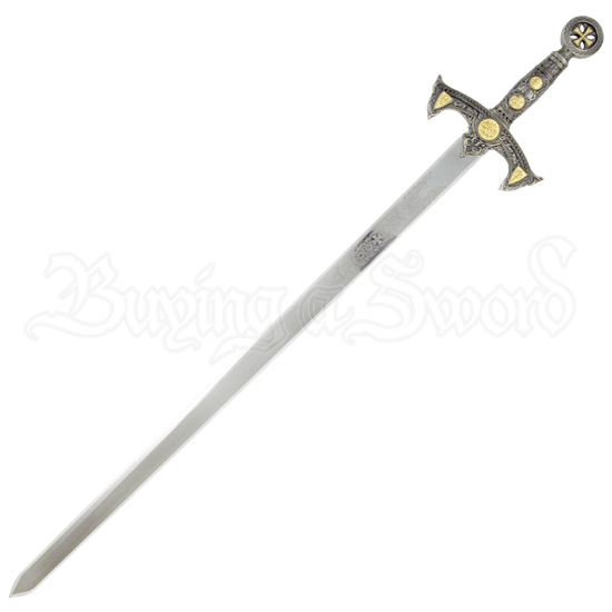 Knights Templar Sword with Plaque