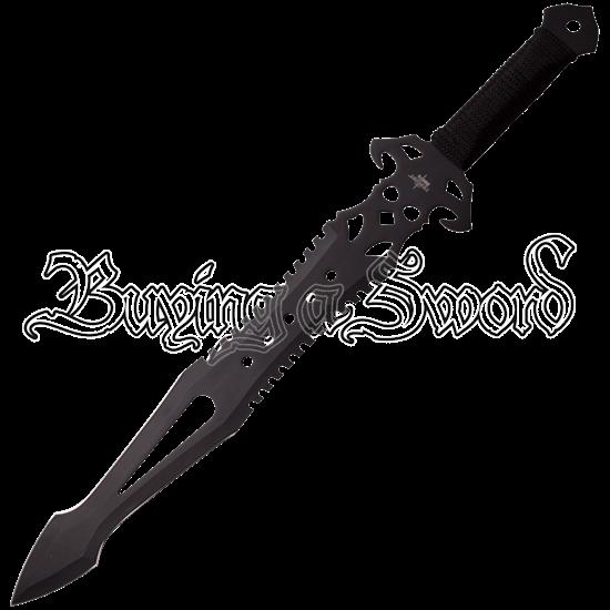 Black Adventurer Fantasy Short Sword