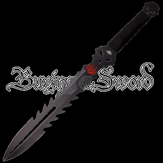Flaming Demon Fantasy Short Sword
