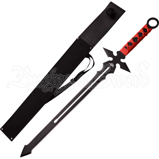 Red Wrapped Fantasy Short Sword