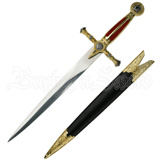Red Masonic Short Dagger