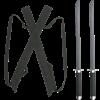 Black Twin Ninja Sword Set