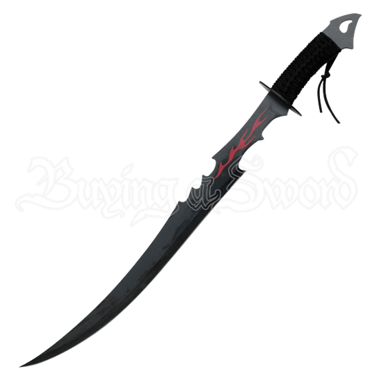 Black Flame Warrior Sword