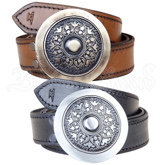 Medieval Shield Buckle Belt